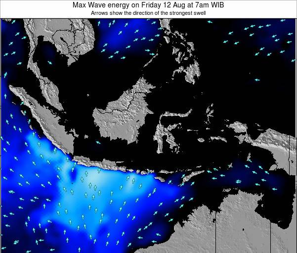 EastTimor Max Wave energy on Thursday 24 May at 1pm WIB map