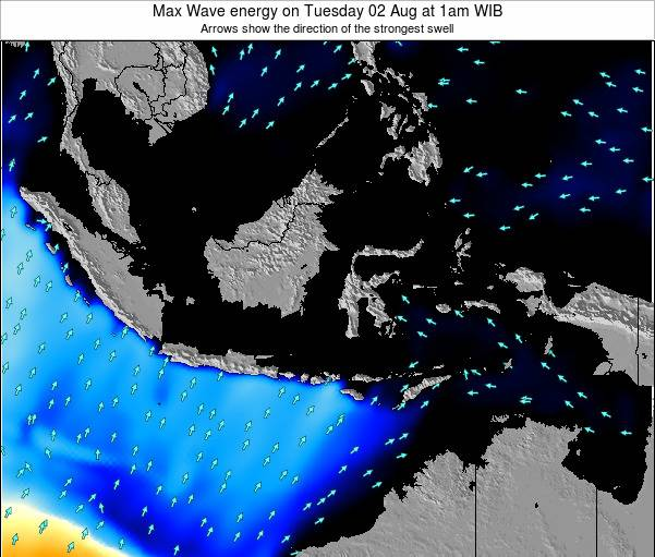 EastTimor Max Wave energy on Tuesday 23 Oct at 1am WIB map