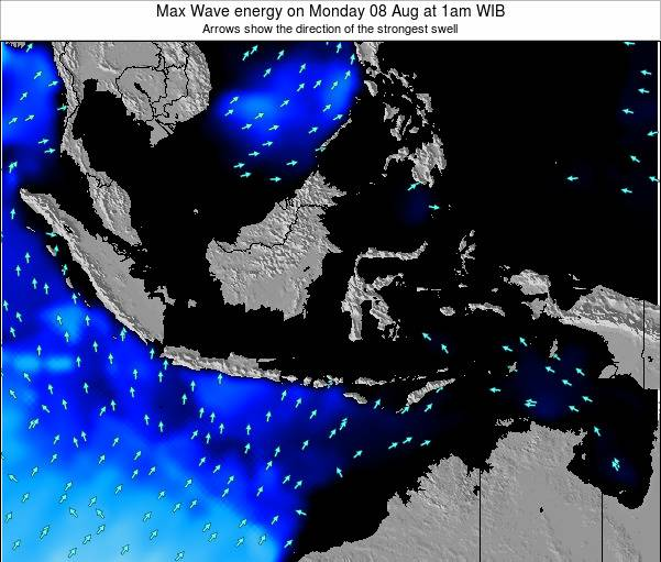 Indonesia Max Wave energy on Thursday 23 May at 1pm WIT
