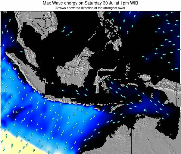 Christmas Island Max Wave energy on Friday 26 Aug at 1am WIB