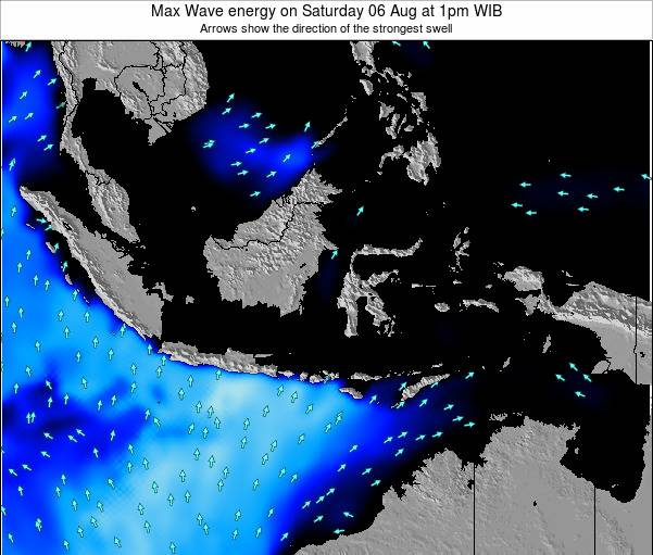 Christmas Island Max Wave energy on Monday 10 Mar at 7am WIT