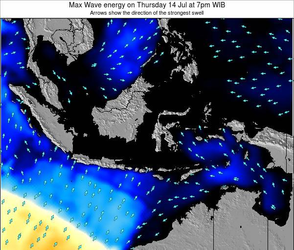 Christmas Island Max Wave energy on Friday 25 Jul at 7pm WIT