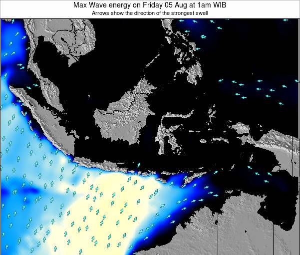 Christmas Island Max Wave energy on Wednesday 30 Jul at 1am WIT