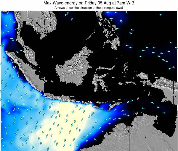 EastTimor Max Wave energy on Wednesday 26 Nov at 7am WIT