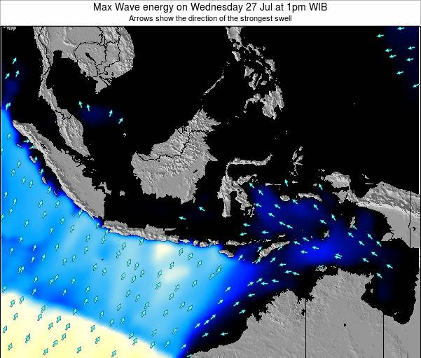 EastTimor Max Wave energy on Saturday 14 Dec at 7am WIT