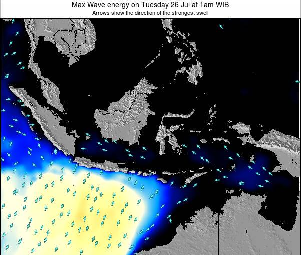 EastTimor Max Wave energy on Saturday 22 Jun at 1am WIT