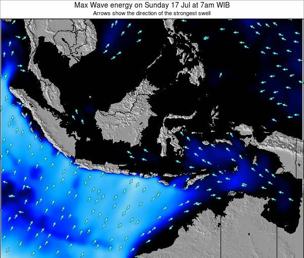 EastTimor Max Wave energy on Thursday 24 Jul at 7pm WIT