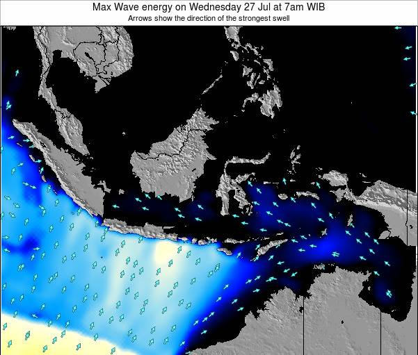 Indonesia Max Wave energy on Wednesday 11 Dec at 7pm WIT