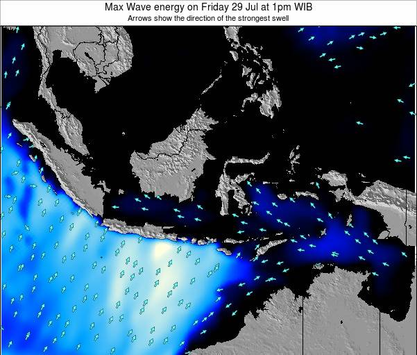 Indonesia Max Wave energy on Friday 24 May at 7pm WIT