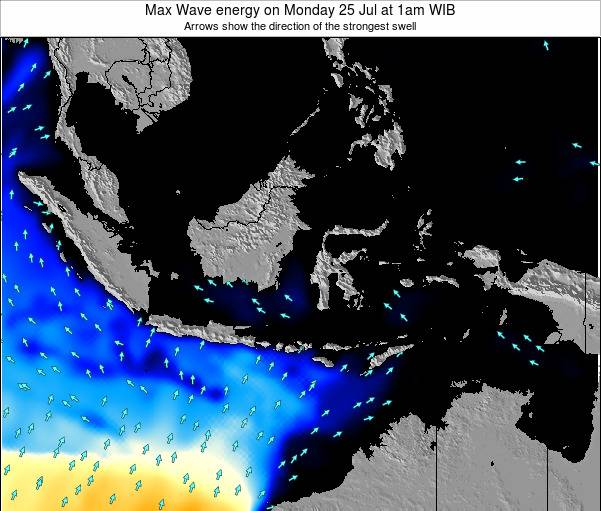 EastTimor Max Wave energy on Monday 20 Aug at 7pm WIB map