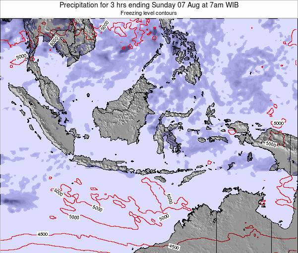 Indonesia Precipitation for 3 hrs ending Wednesday 12 Mar at 7pm WIT