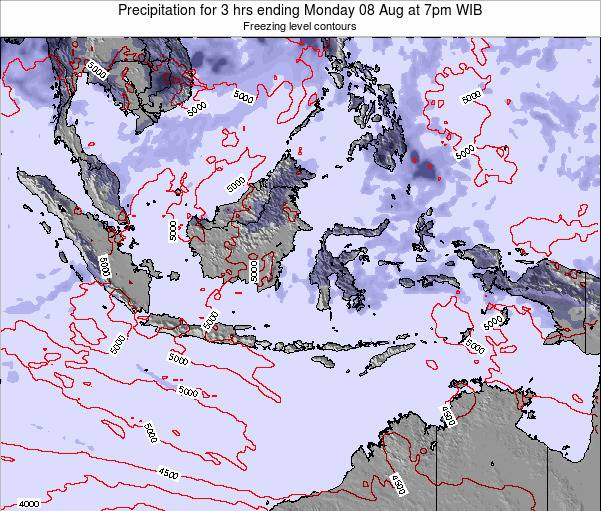 Indonesia Precipitation for 3 hrs ending Thursday 24 Apr at 1am WIT