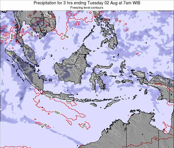 Indonesia Precipitation for 3 hrs ending Wednesday 20 Aug at 1pm WIT