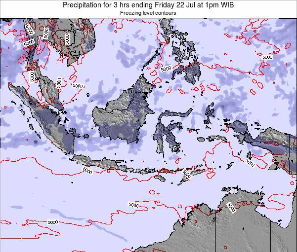 Indonesia Precipitation for 3 hrs ending Sunday 26 May at 1am WIT