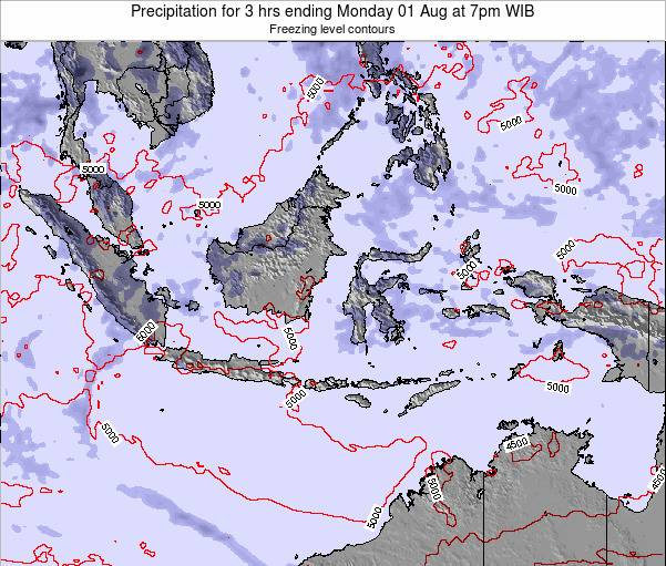 East Timor Precipitation for 3 hrs ending Wednesday 22 May at 1am WIT map