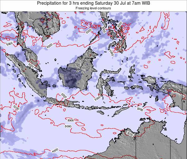 Indonesia Precipitation for 3 hrs ending Wednesday 27 May at 7am WIT