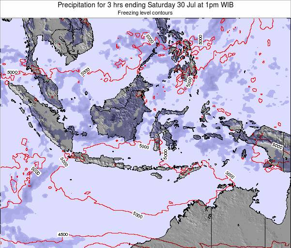 Indonesia Precipitation for 3 hrs ending Friday 06 Dec at 1pm WIT