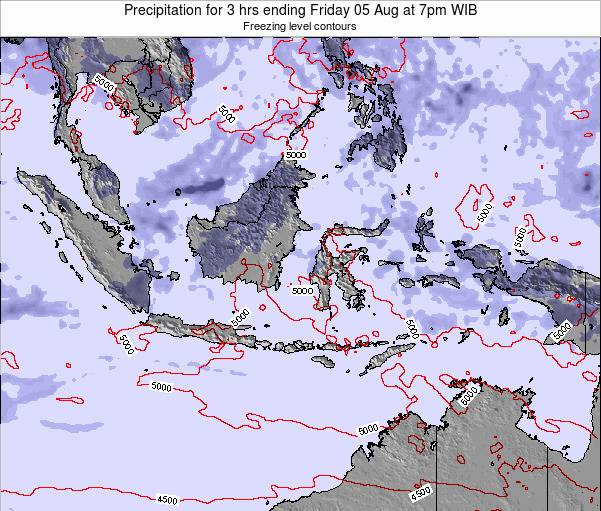 Indonesia Precipitation for 3 hrs ending Monday 15 Feb at 7am WIB