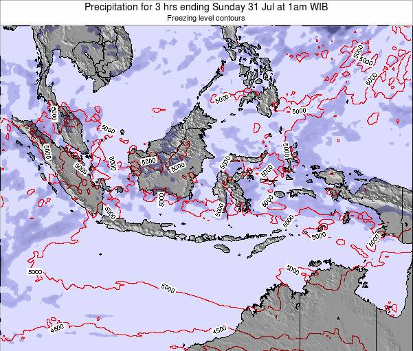 EastTimor Precipitation for 3 hrs ending Monday 27 May at 1pm WIT