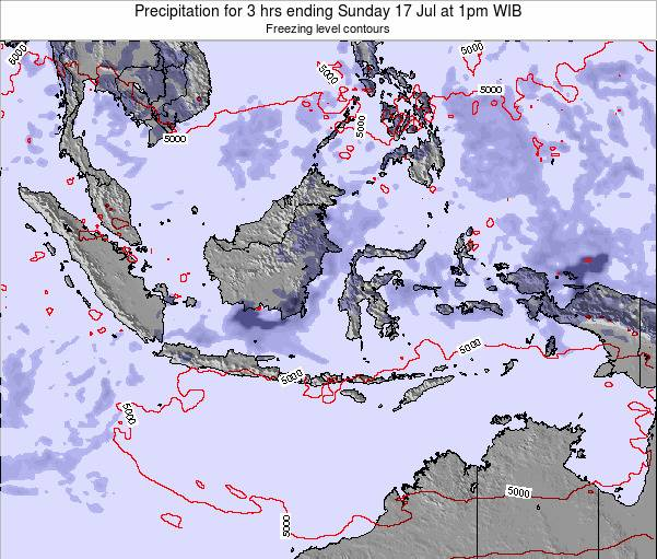 EastTimor Precipitation for 3 hrs ending Sunday 26 May at 1pm WIT