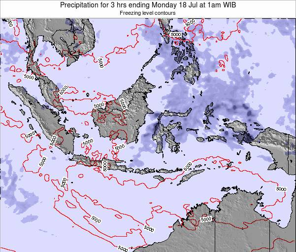 EastTimor Precipitation for 3 hrs ending Wednesday 12 Mar at 7am WIT