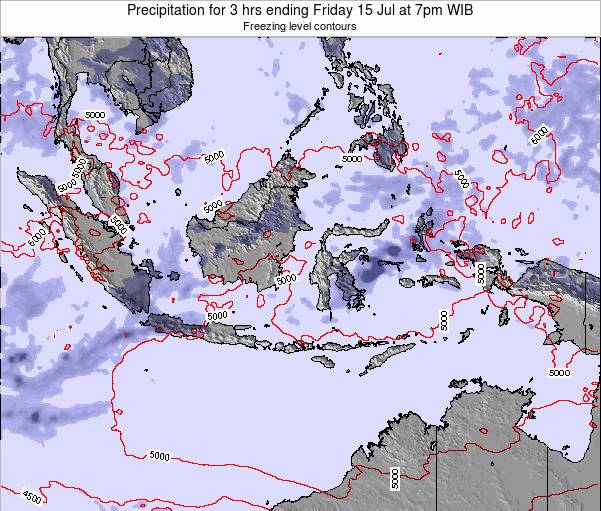 EastTimor Precipitation for 3 hrs ending Thursday 24 Jul at 1pm WIT