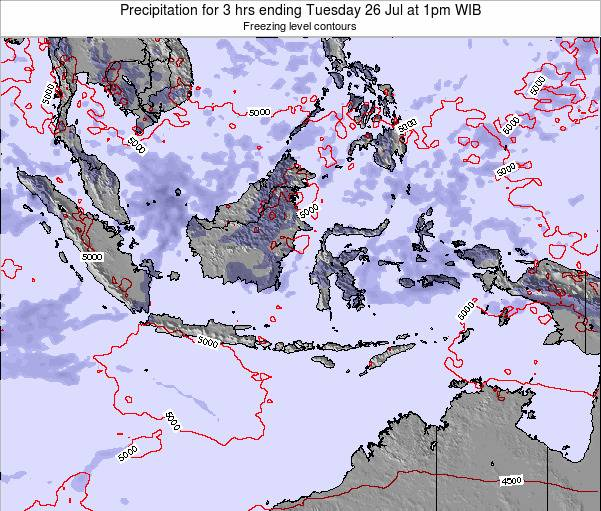 EastTimor Precipitation for 3 hrs ending Monday 21 Apr at 7am WIT