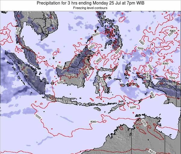 EastTimor Precipitation for 3 hrs ending Wednesday 11 Dec at 7pm WIT