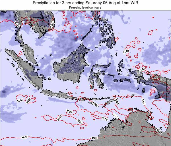 EastTimor Precipitation for 3 hrs ending Wednesday 13 Dec at 7pm WIB map