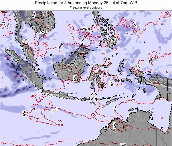 EastTimor Precipitation for 3 hrs ending Thursday 24 Apr at 7am WIT