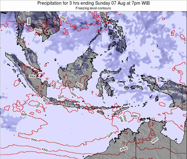 EastTimor Precipitation for 3 hrs ending Tuesday 22 Aug at 7am WIB