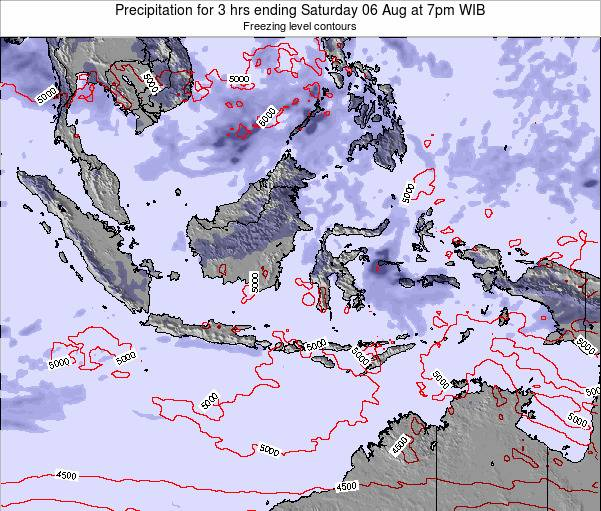 EastTimor Precipitation for 3 hrs ending Tuesday 29 Jul at 7pm WIT