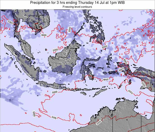 East Timor Precipitation for 3 hrs ending Sunday 26 May at 1pm WIT map