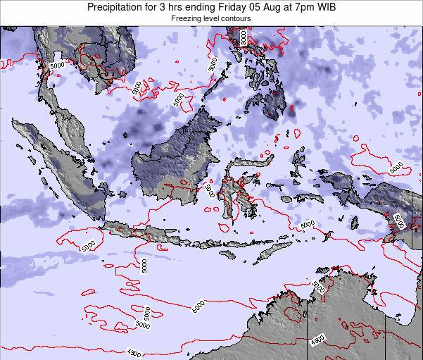 Christmas Island Precipitation for 3 hrs ending Saturday 02 Aug at 1am WIT