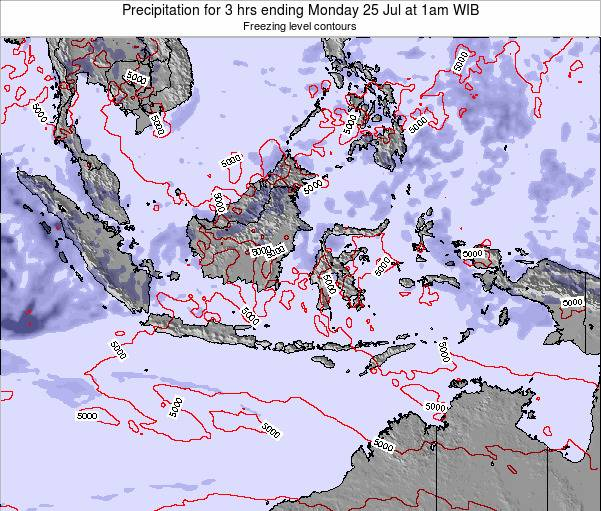 Christmas Island Precipitation for 3 hrs ending Tuesday 21 Feb at 1pm WIB
