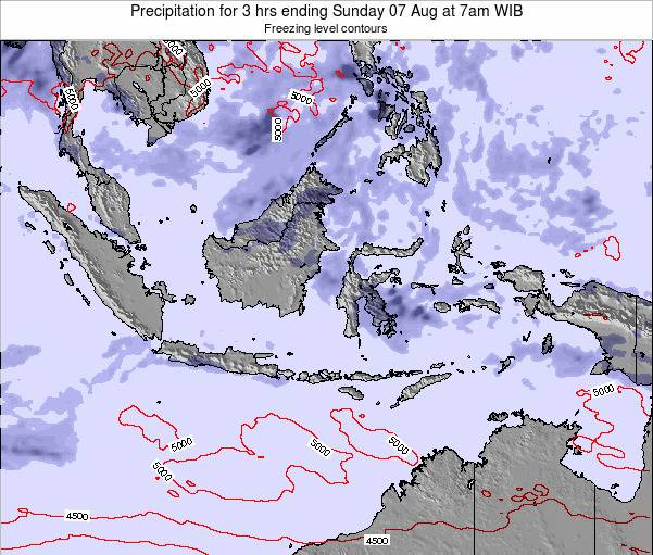 Christmas Island Precipitation for 3 hrs ending Thursday 29 Sep at 7am WIB