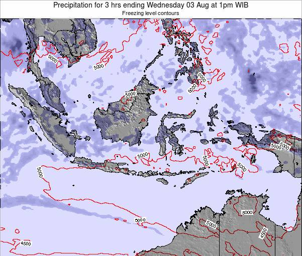 Christmas Island Precipitation for 3 hrs ending Friday 21 Jun at 1am WIT