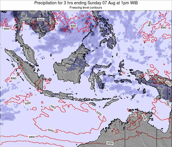 Christmas Island Precipitation for 3 hrs ending Friday 03 Jul at 1am WIT