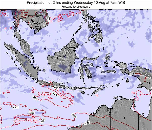 Christmas Island Precipitation for 3 hrs ending Tuesday 22 Apr at 7pm WIT