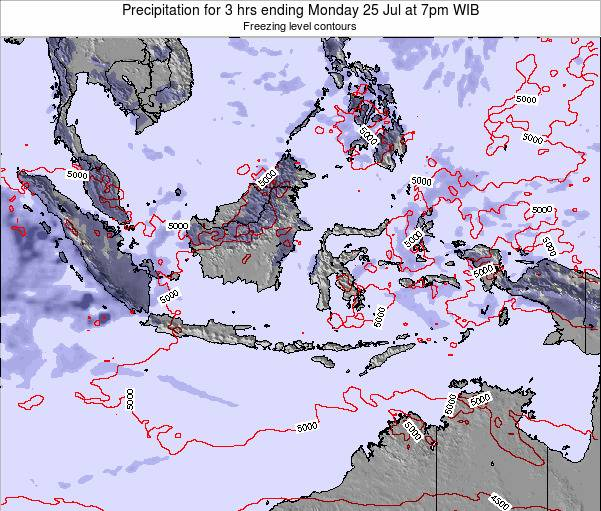 Christmas Island Precipitation for 3 hrs ending Tuesday 25 Oct at 7pm WIB