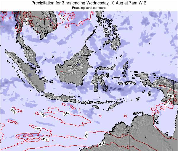 Christmas Island Precipitation for 3 hrs ending Tuesday 21 Feb at 7pm WIB