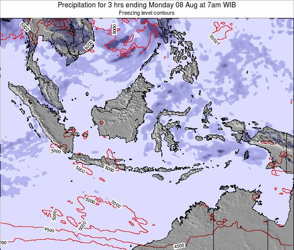 Christmas Island Precipitation for 3 hrs ending Monday 21 Apr at 7am WIT
