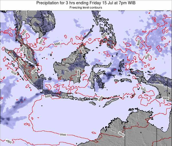 Christmas Island Precipitation for 3 hrs ending Monday 18 Jun at 7am WIB map