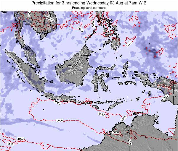 Christmas Island Precipitation for 3 hrs ending Tuesday 21 Oct at 7am WIT