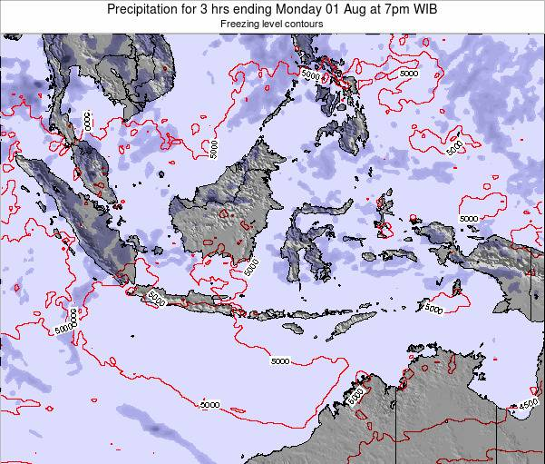 Christmas Island Precipitation for 3 hrs ending Tuesday 17 Jan at 7am WIB