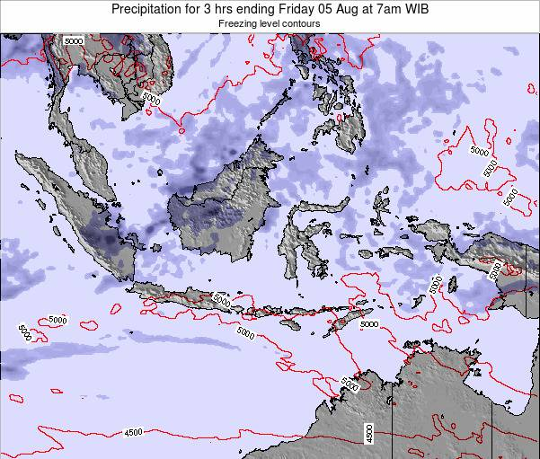 Christmas Island Precipitation for 3 hrs ending Saturday 25 Mar at 1pm WIB