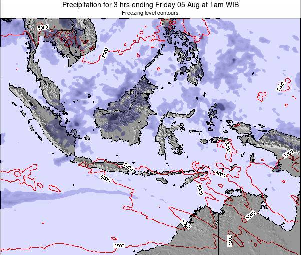 Christmas Island Precipitation for 3 hrs ending Thursday 17 Apr at 7am WIT