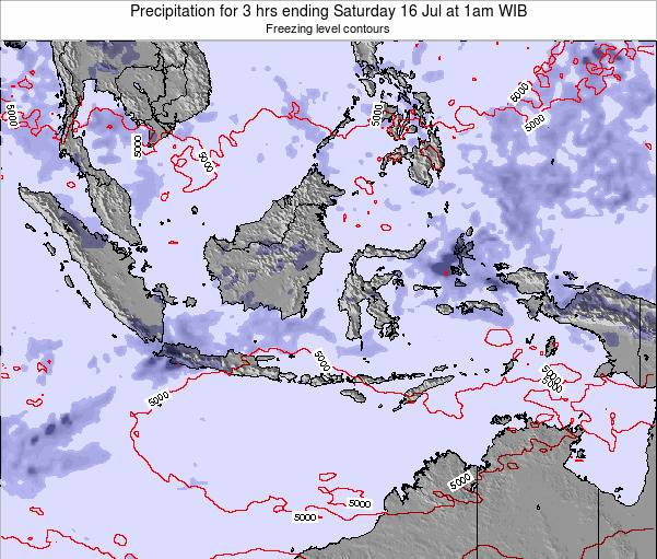 EastTimor Precipitation for 3 hrs ending Tuesday 21 May at 1pm WIT