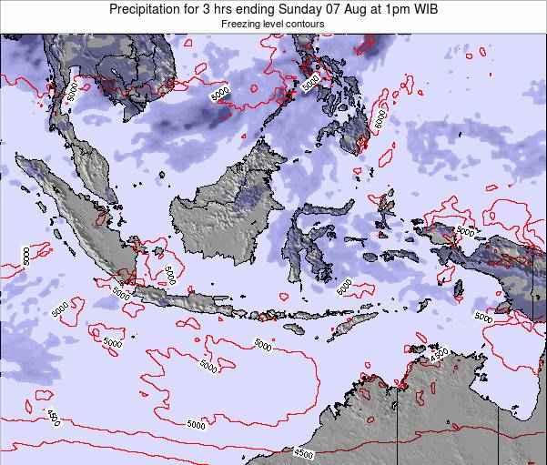 Christmas Island Precipitation for 3 hrs ending Friday 31 Jul at 7am WIB