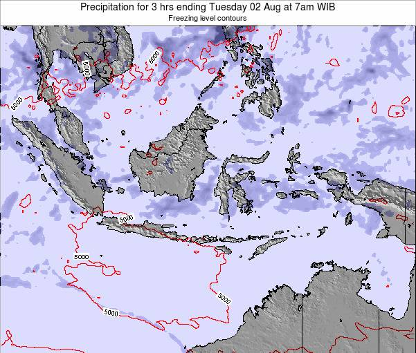 Christmas Island Precipitation for 3 hrs ending Sunday 27 Apr at 7am WIT